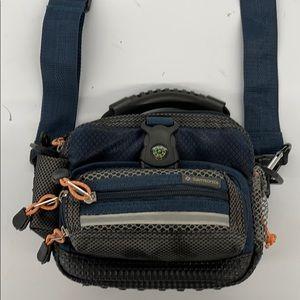 Samsonite small camera travel bag nylon blue